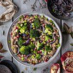 Pomegranate Broccoli Amaranth Salad