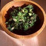 Kale chips with Lemon and Sesame Seeds