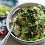 Irish Colcannon Potatoes with Kale and Cabbage