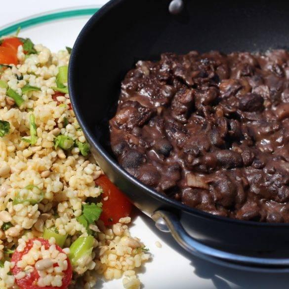 Caption of Refried black beans. Image by Edward Daniel (c).
