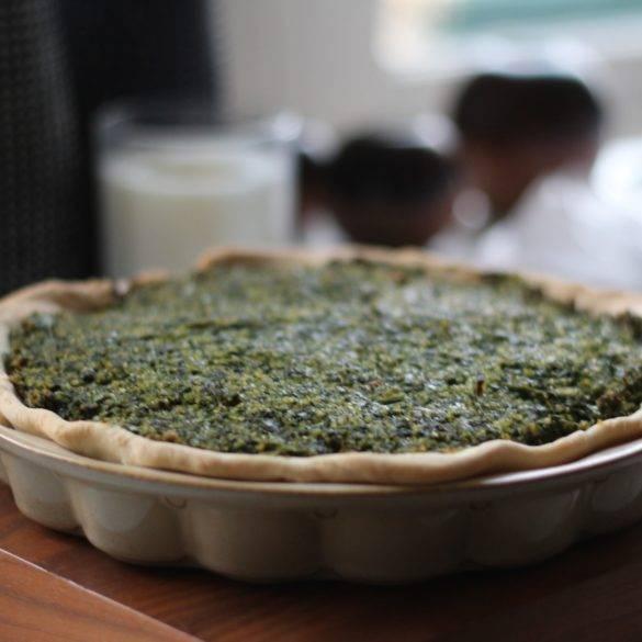 Caption of Dill Chard Spinach Bulgur Wheat Pie. Image by Edward Daniel (c).