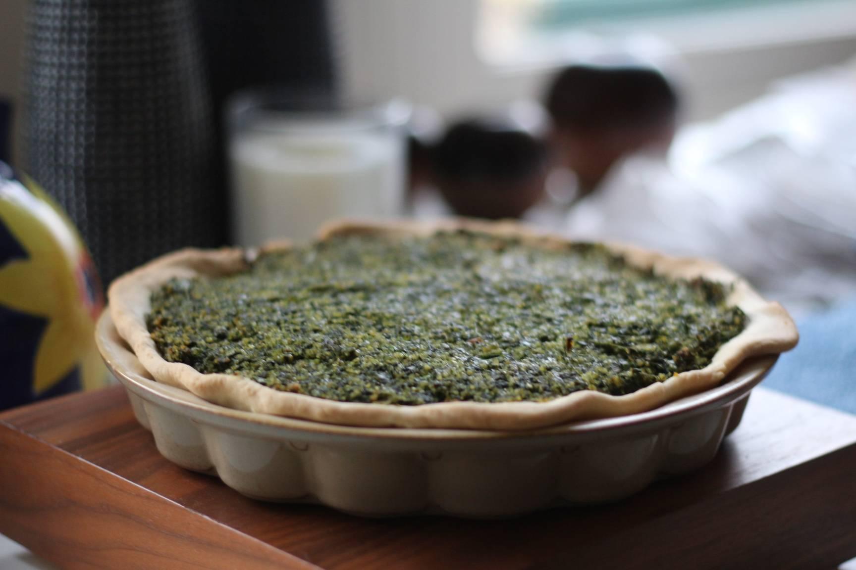 Dill Chard Spinach Bulgur Wheat Pie