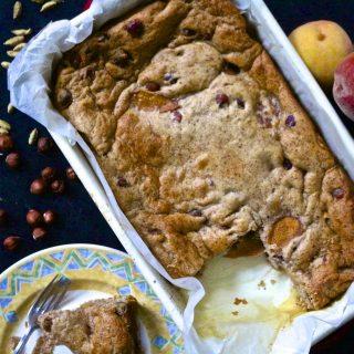 Recipe: Cardamom Peach and Hazelnut Cake – #vegan