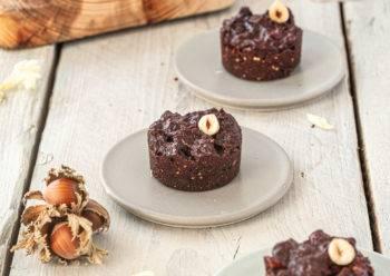 Caption of Double Chocolate Hazelnut Brownies. Image by Edward Daniel (c).