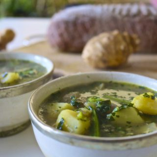 Recipe: Jerusalem Artichoke and Cavolo Nero Soup -#Vegan