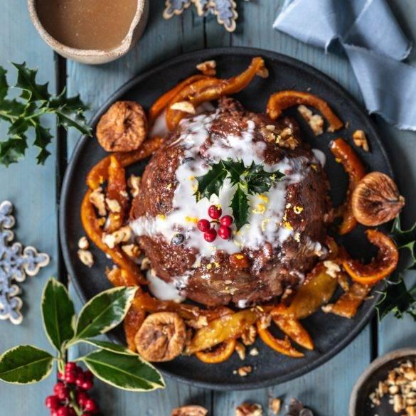 Caption of Vegan Christmas Pudding. Image by Edward Daniel (c).