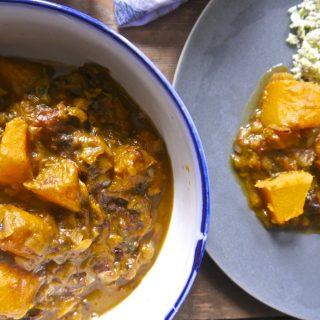 Recipe: Roasted Squash Dulse Curry – #vegan #paleovegan