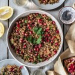 Coriander Pomegranate Quinoa Salad