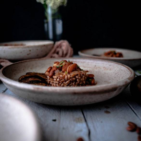 Caption of Rose Coco and Aubergine Stew. Image by Edward Daniel (c)