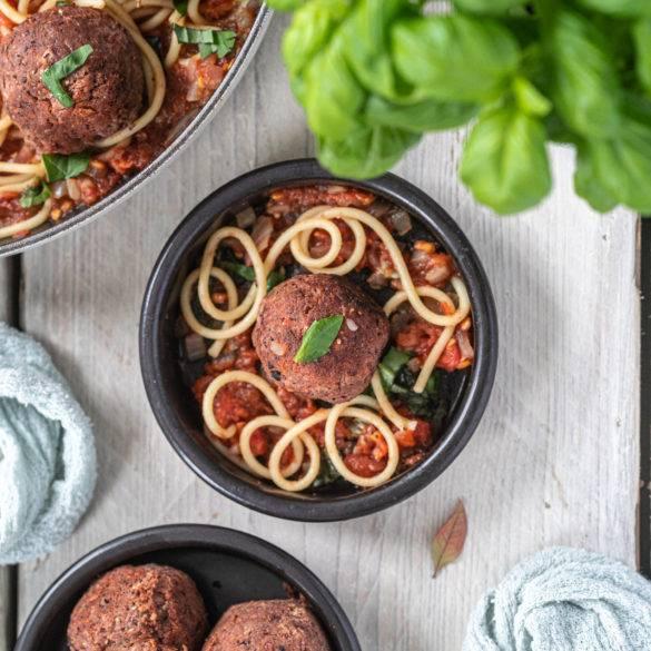 Caption of Vegan Meatballs. Image by Edward Daniel (c).