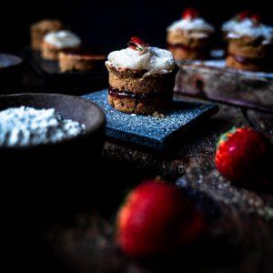Gluten-free Victoria Sponge Cake being served. Image by Edward Daniel (c)