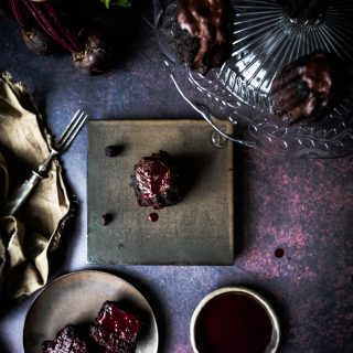 Caption of Beetroot Chocolate Brownie. Image by Edward Daniel (c).