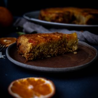 Caption of Orange Polenta Cake. Image by Edward Daniel (c).