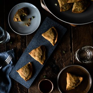 Gluten-free Vegan Samosas. Image by Edward Daniel (c)