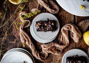 Caption of Sweet Potato Carob Brownies. Image by Edward Daniel (c).