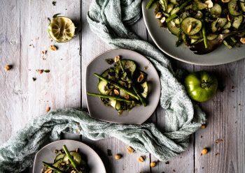 Caption of Cucumber Fine Bean Salad