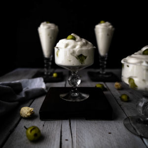 Caption of Goosberry and Lime Mousse. Image by Edward Daniel (c).