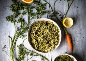 Caption of Carrot Top Pesto; Image by Edward Daniel (c).