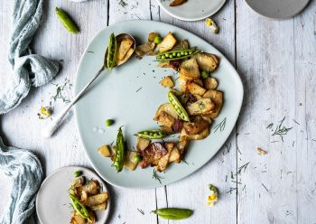 Caption of Roasted Potatoes with Peas. Image by Edward Daniel (c).