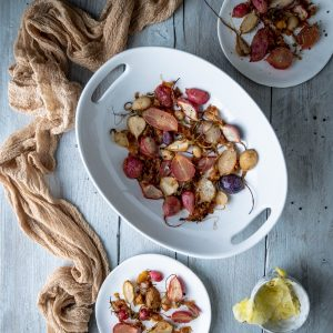 Caption of Roasted Radishes in a Pineapple Marinade. Image by Edward Daniel (c).