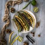 Roasted Runner Beans with Cob Nuts