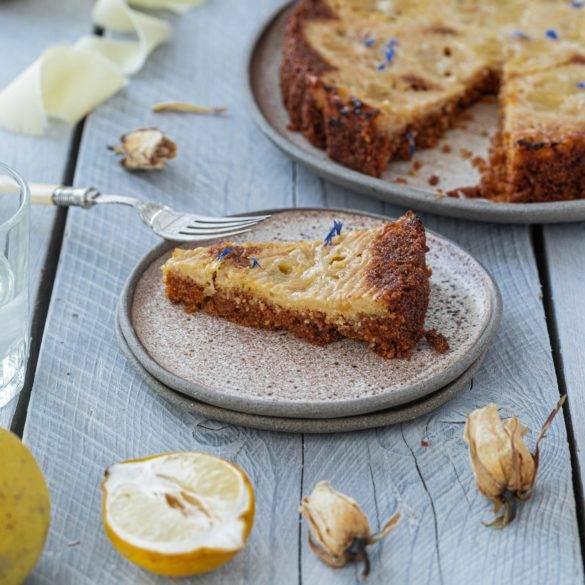 Caption of Lemon Polenta Cake. Image by Edward Daniel (c).