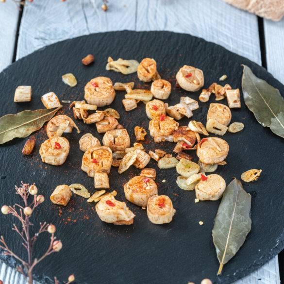 Caption of Galicia-Style Vegan Calamari. Image by Edward Daniel (c).